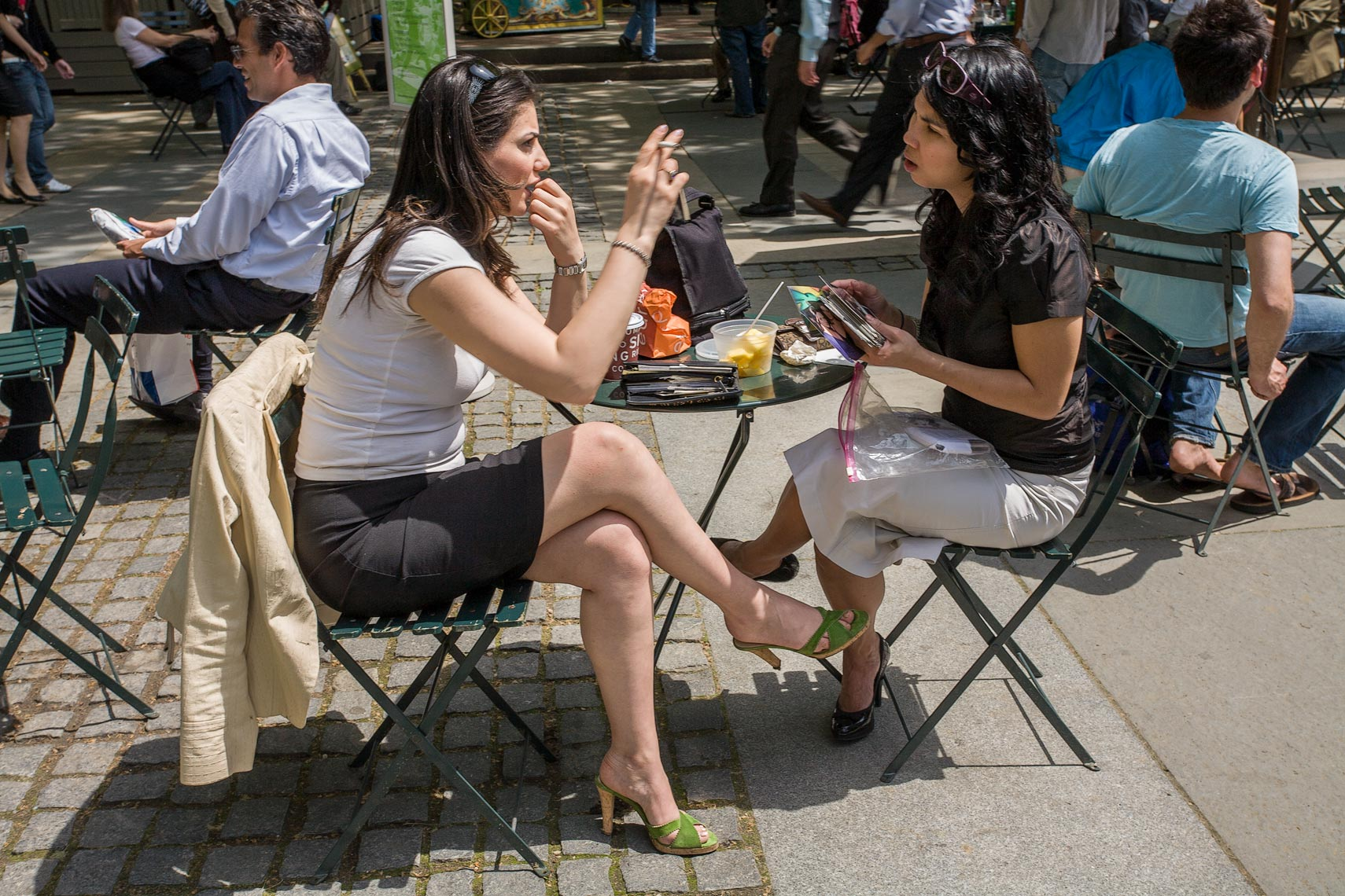Two women having lunch
