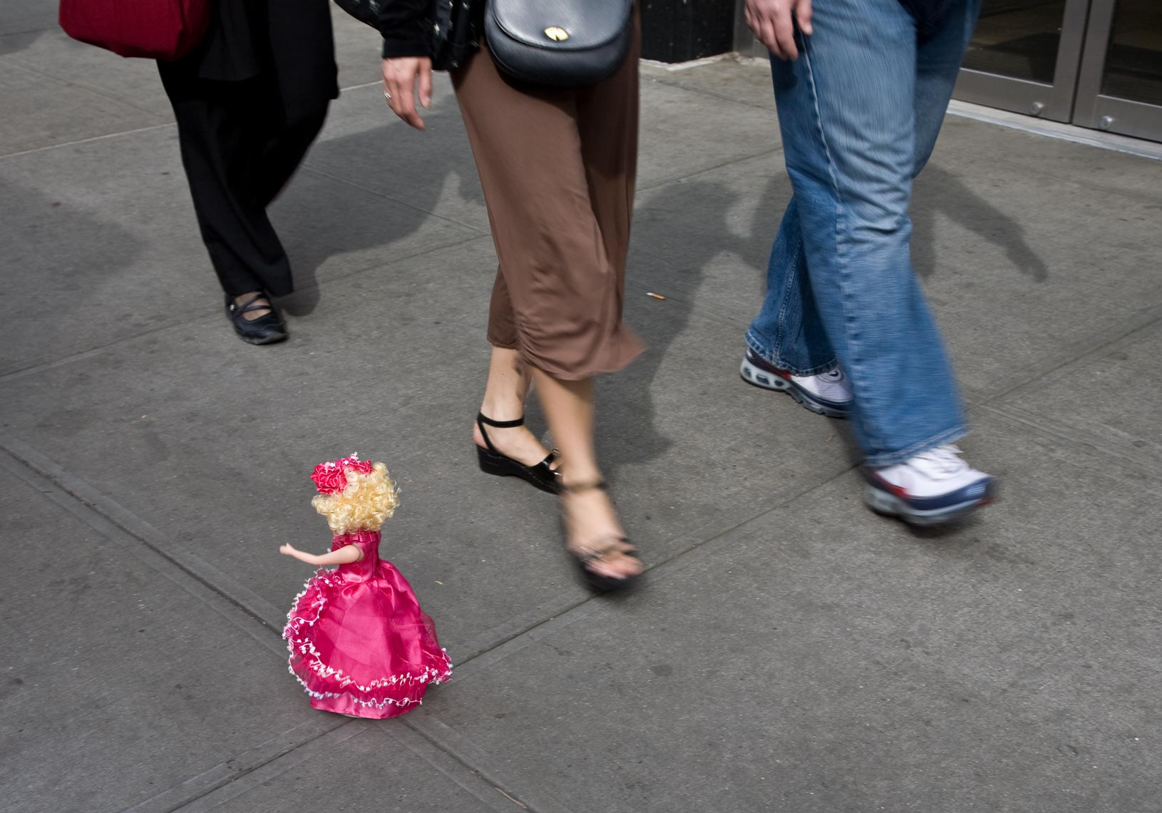 Doll and sidewalk walkers