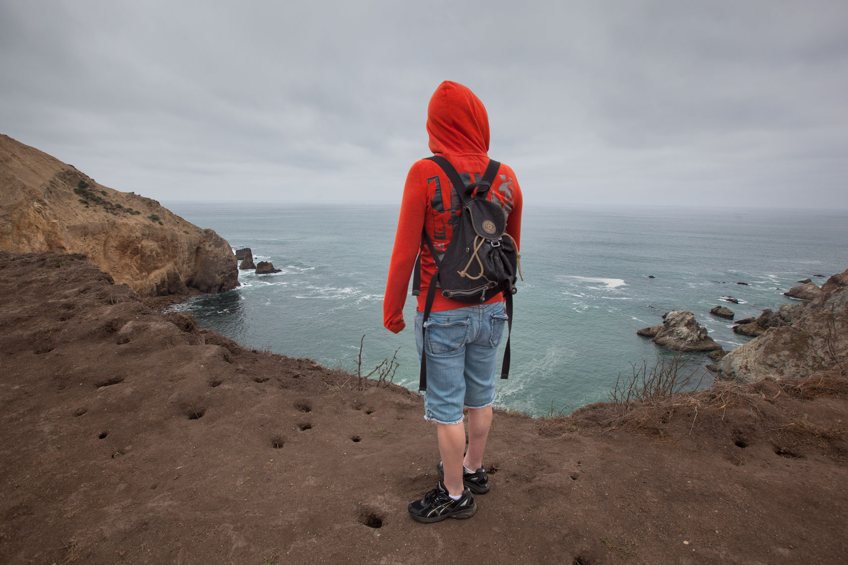 Point reyes hiker, California