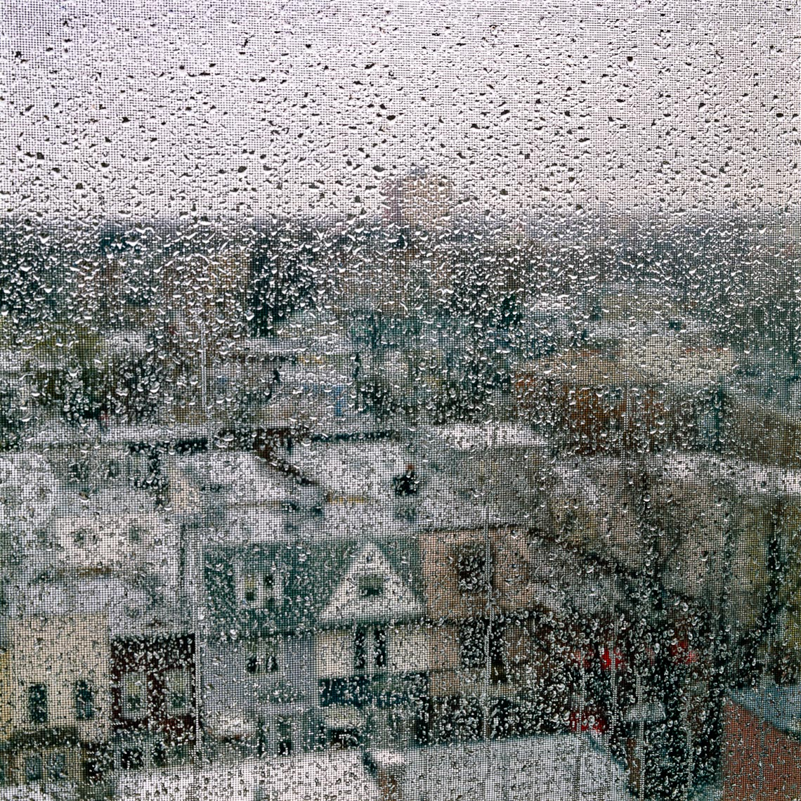 Rain on Brooklyn window